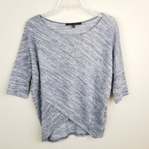 WHBM  Cross-Front Sparkle Knit Top
